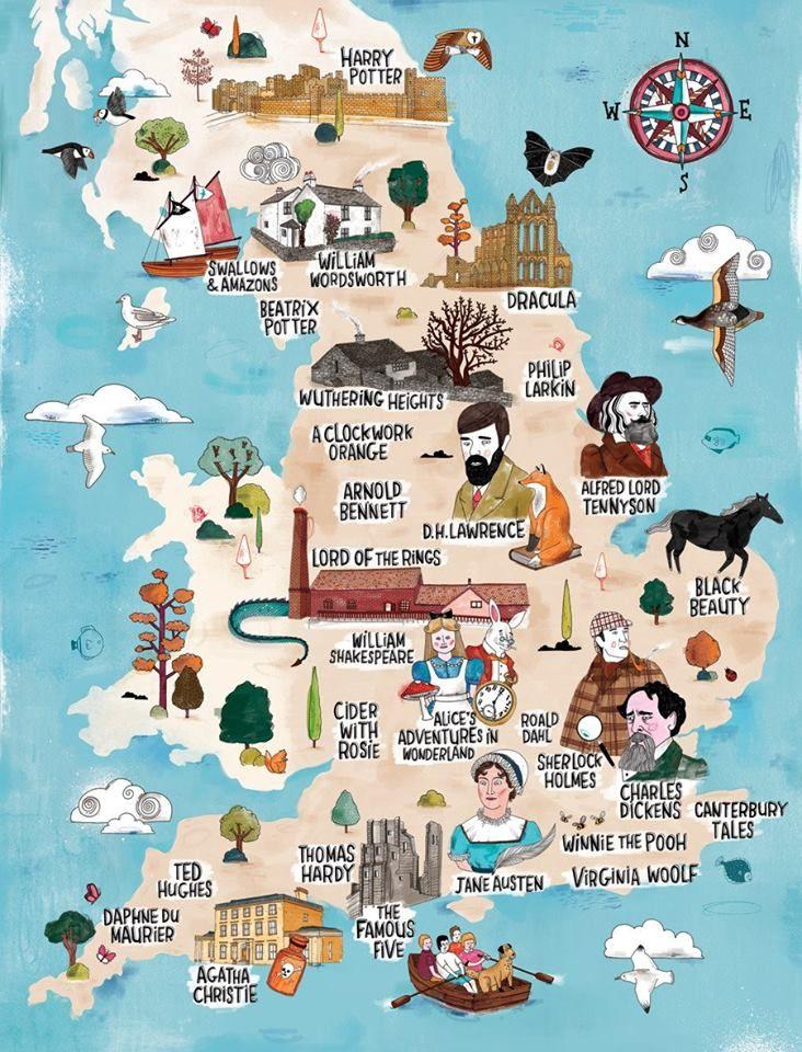 mapa literário da inglaterra