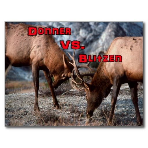 Donner vs. Blitzen Postcard