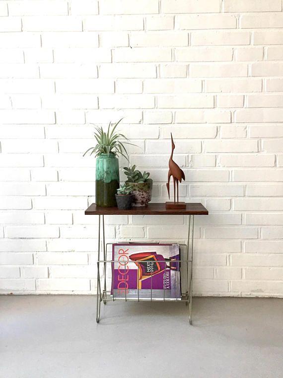 Portariviste vintage, giornali tavola metà secolo, stringa mensola, tavolino in teak, Magazine mensola 50 - 60ziger anni,.