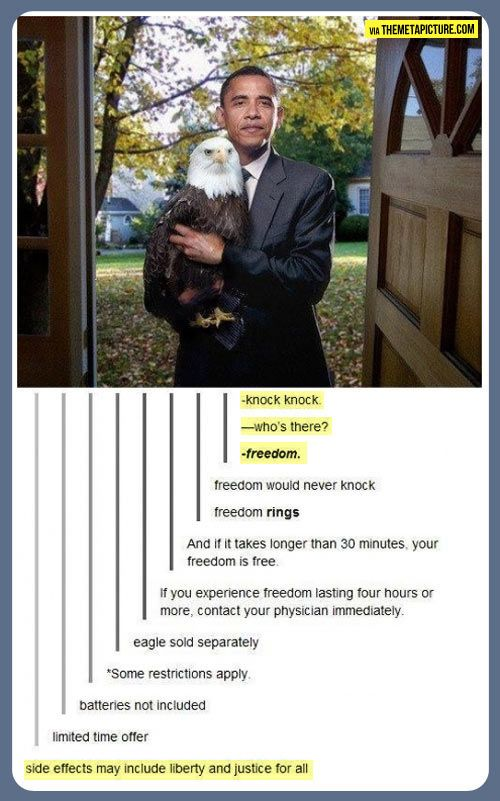 'Murica. Oh Tumblr. I don't get why Obama is in the photo but I love the conversation