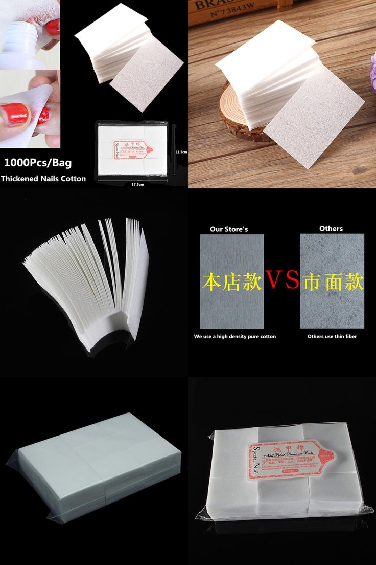 [Visit to Buy] 1000PCS/bag Nail Tools Bath Manicure Gel Nail Polish Remover Lint-Free Wipes Cotton Thickened Napkins For Nails Lint Pads Paper  #Advertisement