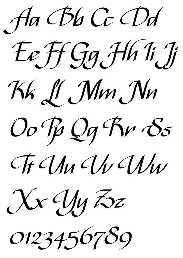 Best 25 Cursive Fonts Alphabet Ideas On Kalligraphie