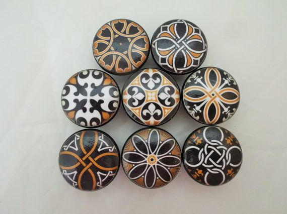 Marvelous Set Of 8 Spanish Mandala Cabinet Knobs By ReadinginRags On Etsy