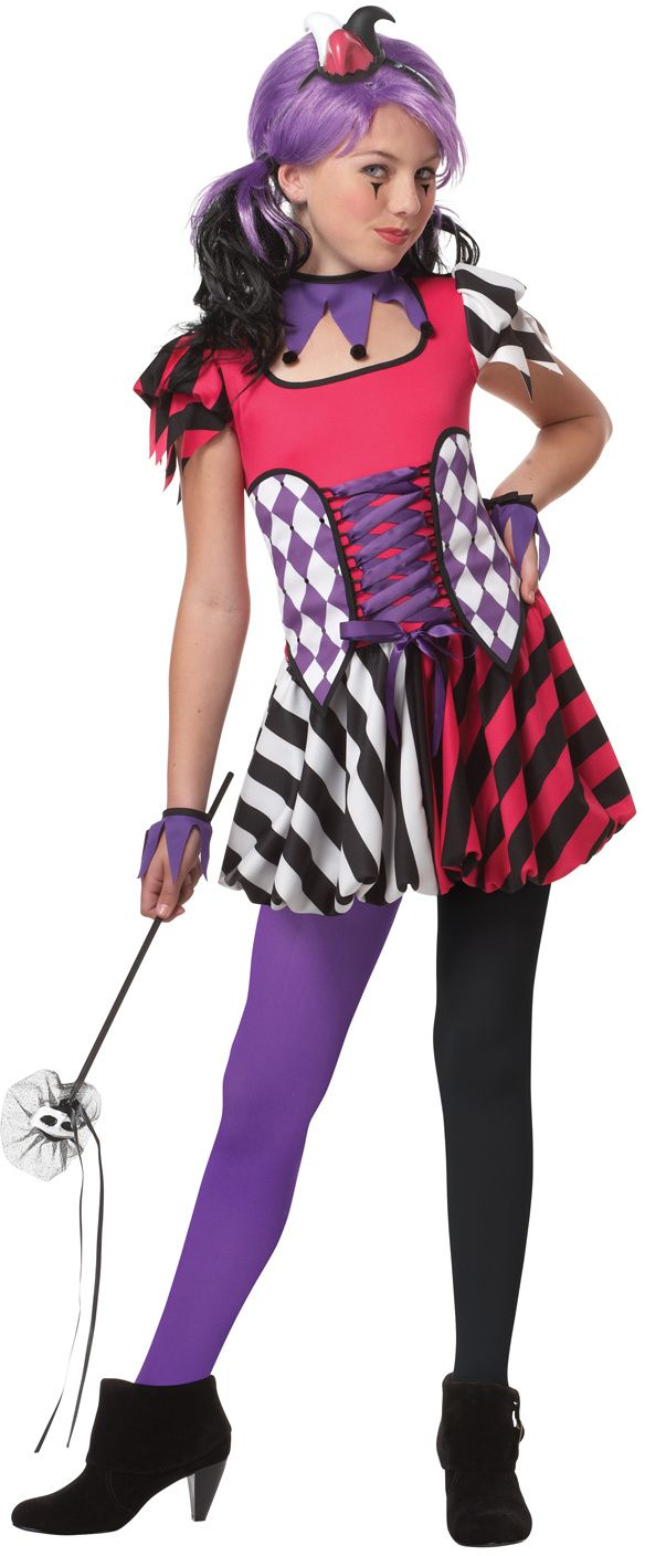 girls size 10-12 costumes | Home >> Clown Costume >> Kids Clown Costumes >> Medieval Festive ...