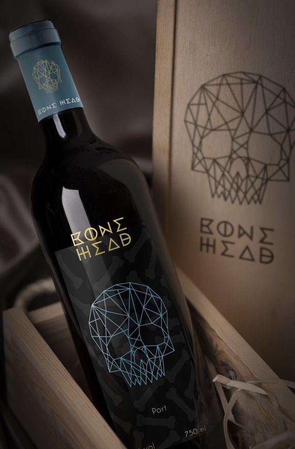 Bone Head Wine by Christiana Del Vecchio, via Behance PD