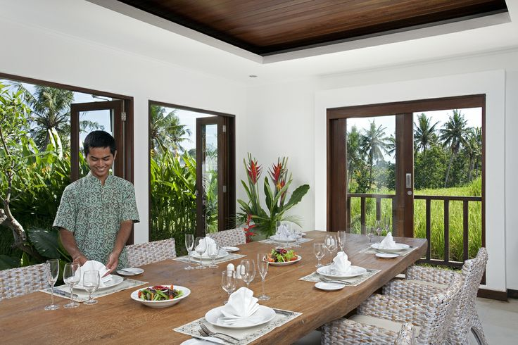 2 bedroom Villa dining area at Canggu Terrace