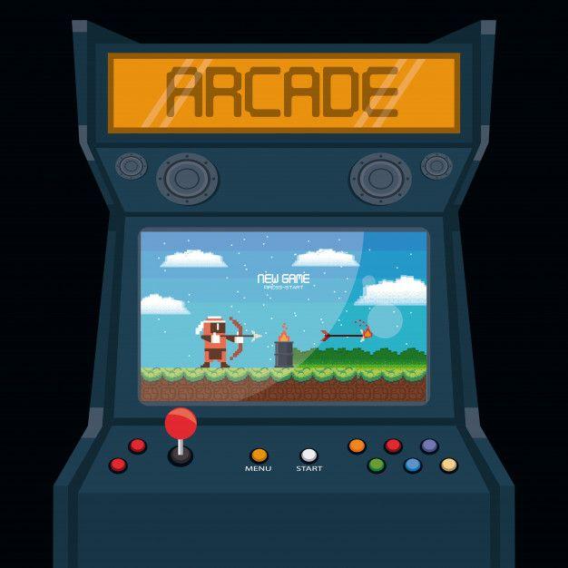 Retro Videogame Arcade Machine Card Retro Arcade Games Arcade Arcade Machine