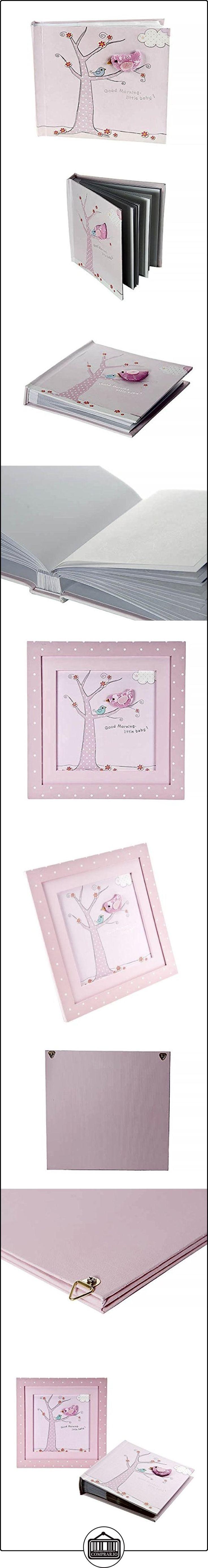 Set de regalo con imagen enmarcada con diseño de pajarito y álbum de fotos a juego para niñas recién nacidas  ✿ Regalos para recién nacidos - Bebes ✿