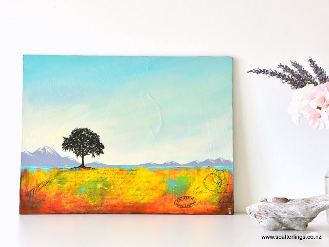 """""""The Good Life"""" - abstract landscape painting by Wanaka artist Renee Walden"""
