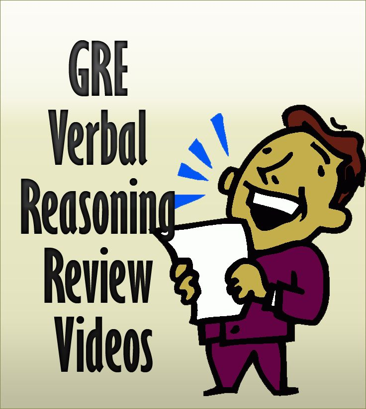 http://www.mometrix.com/academy/gre-verbal-reasoning/  These are great review videos if you need extra help preparing for the GRE Verbal Reasoning exam!