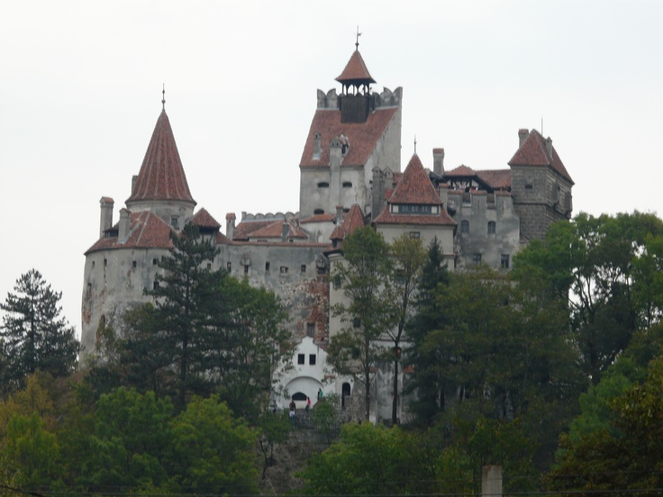 """Castle Bran.  It's known as """"Dracula's Castle"""" even though it is widely acknowledged in Romania that the real Dracula aka Vlad Tepes aka Vlad the Impaler never lived there or even visited.  But it's what we all imagine Bram Stoker's Dracula's castle is supposed to look like, so it's where they set up the tourist attraction :)"""