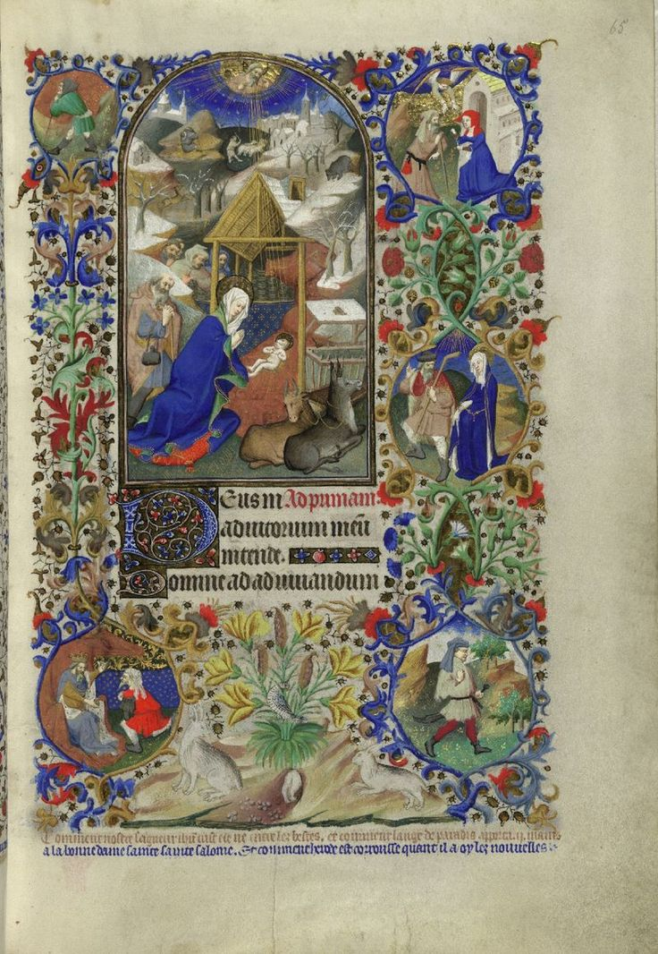 The Beford Hours,circa 1400's-made to commemorate the Duke of Bedford's wedding day.