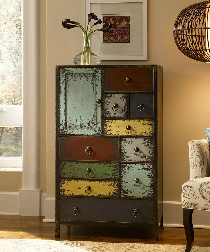 Luxury Powell Company Parcel 13 Drawer Cabinet