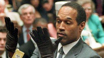 Former NFL player O.J. Simpson during his double-murder trial in Los Angeles. On October 3, 1995, Simpson was acquitted of murdering his ex-wife, Nicole Simpson and Ron Goldman.
