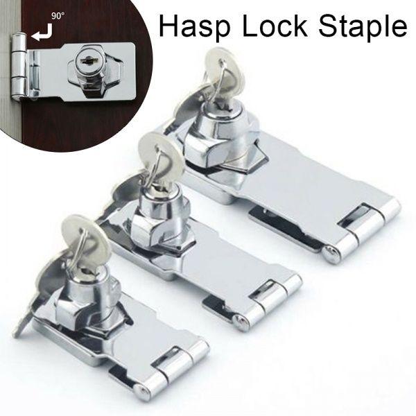 Stainless Steel Hasp Lock Staple Key Hardware Cupboard Shed Door Garage Security Shed Doors Garage Doors Steel