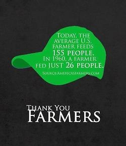 Thanks for everything farmer's  (especially my hubby)