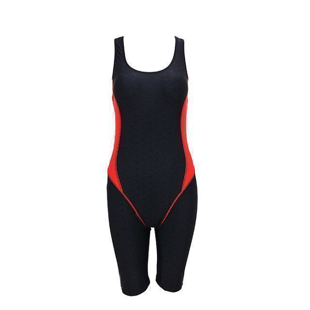 62c17affe6e Professional Sharkskin Sport Competition Tight Full body Bathing Suit One  Piece Knee Swimsuit Racing Swimwear Women