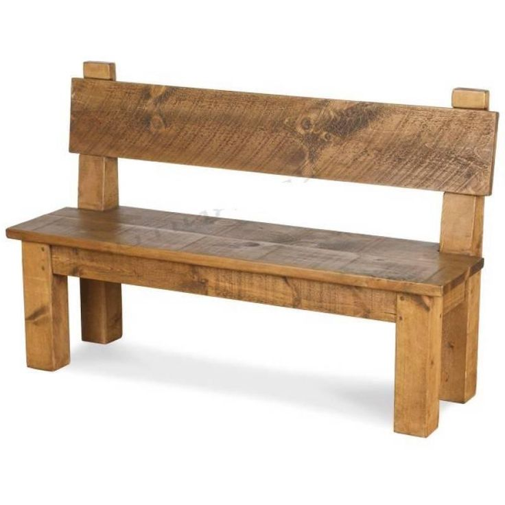 Any Size Made  SOLID WOOD CHUNKY RUSTIC PLANK PINE HIGH BACK DINING TABLE  BENCH
