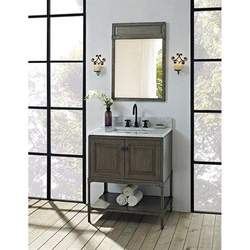 Photo Gallery For Website Buy Fairmont Designs Toledo Vanity with Doors Driftwood Gray at ModernBathroom