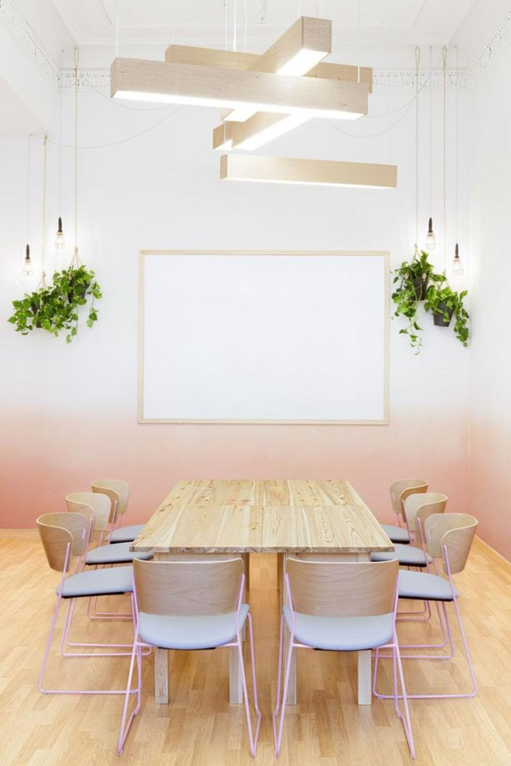Pastel Colors Design Dining Room Area