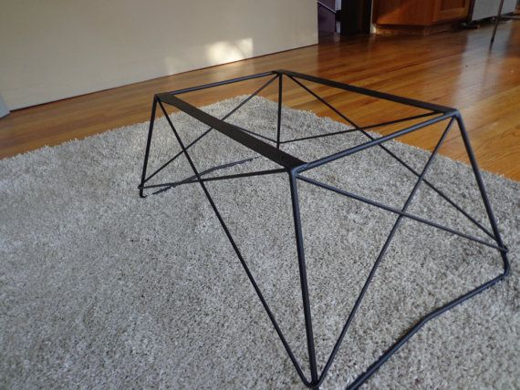 Mid Century Cats Cradle Coffee Table Base - Raw Steel- Base only | By,  Tables and Coffee - Mid Century Cats Cradle Coffee Table Base - Raw Steel- Base Only