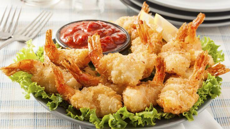 Crevettes frites panko