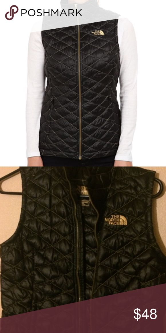 North Face Vest Black and gold The North Face Tops