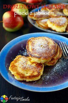 Placuszki z jabłkami z kaszą jaglaną
