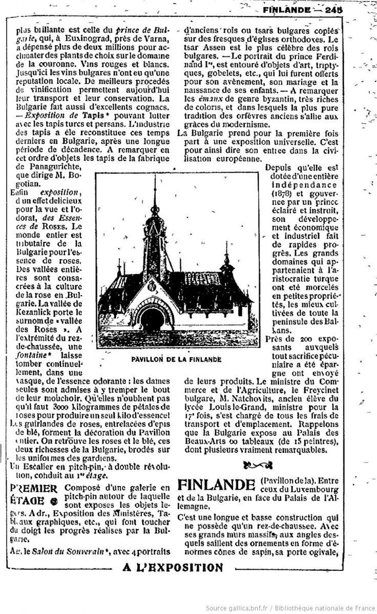 "Image result for ""pavillon finlandais"" 1900"