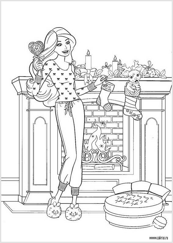 Pin By Sylwia On Barbie Coloring Christmas Coloring Pages Coloring Pages Barbie Coloring