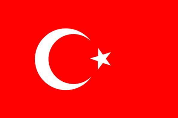 Turkey Flag ~ The flag of Turkey was officially adopted on June 5, 1936           The white crescent and star, symbols of Islam, are placed slightly to the left on the red field, and that shade of red dates back to the Ottoman Empire in the 17th century.