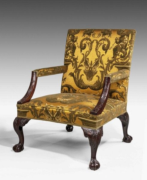 chippendale period mahogany 39 gainsborough 39 armchair. Black Bedroom Furniture Sets. Home Design Ideas
