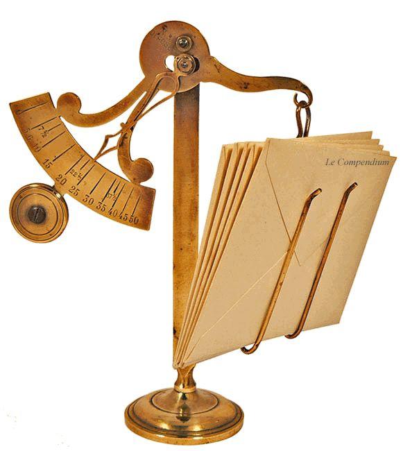 Le Compendium - peson à tangente - peson à contrepoids - pèse-lettre - Narcisse…