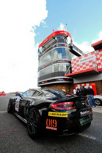 Lined up before the race - Nicholas Mee Racing, GT4 Challenge Brands Hatch