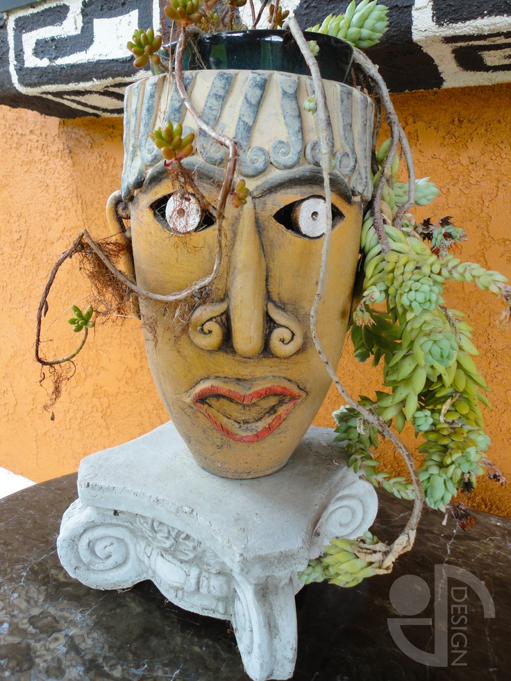 302 Best Images About Head Planters On Pinterest Gardens