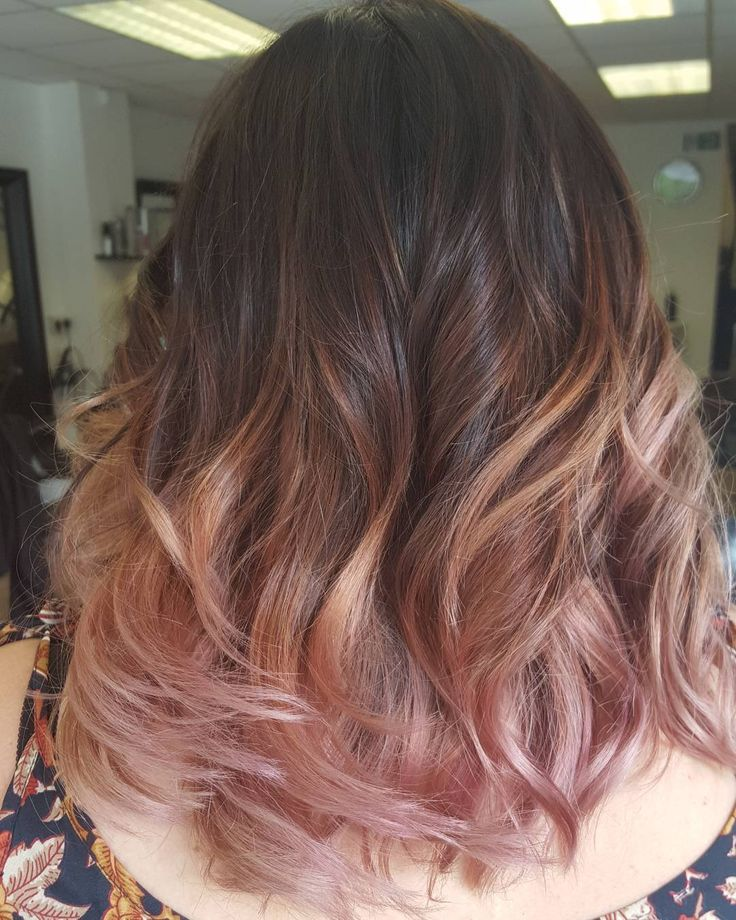 "27 Likes, 2 Comments - @lindsaywesthair on Instagram: ""Rose gold with a deep root  #nofilter #rosegoldhair #goldwell #colorance"""