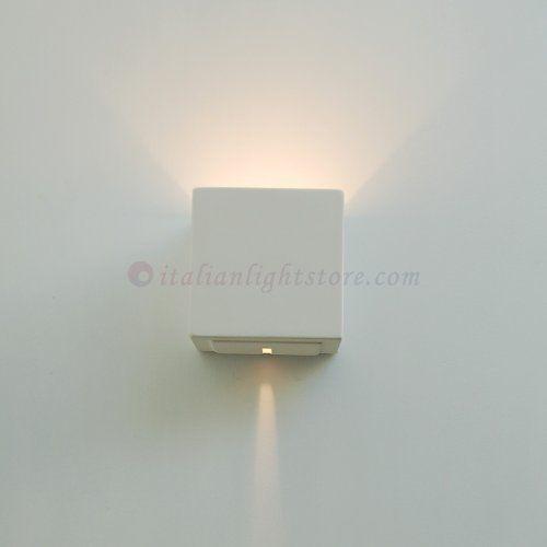 Applique Lampada A Parete Cubetto Decorabile In Ceramica Gesso Colorabile Verniciabile- Linea Ceramica- Illuminazione Interni, http://www.amazon.it/dp/B00IAPPOEY/ref=cm_sw_r_pi_awdl_pAL0vb017XGB2