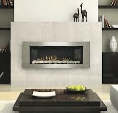 linear gas fireplace - low with TV above
