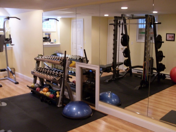 Best Home Gym Images On Pinterest Basement Ideas Basement - Home gym for small spaces