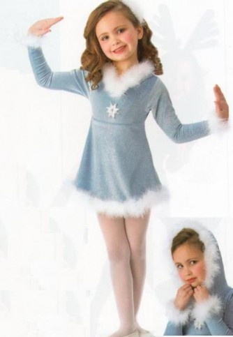The fur edging would be super adorable for a winter practice dress. I hope she'll go for it.