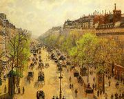 Boulevard Montmartre: Spring  by Camille Pissarro