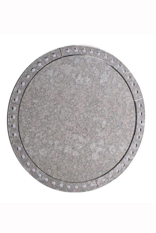 "Elegant Lighting MR-3312 36"" x 36"" Round Decorative Wall Mirror from the Antique Antique Mirror Home Decor Mirrors Mirror"