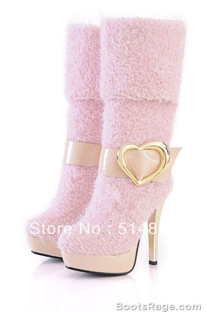 ♔ Cute pink boots