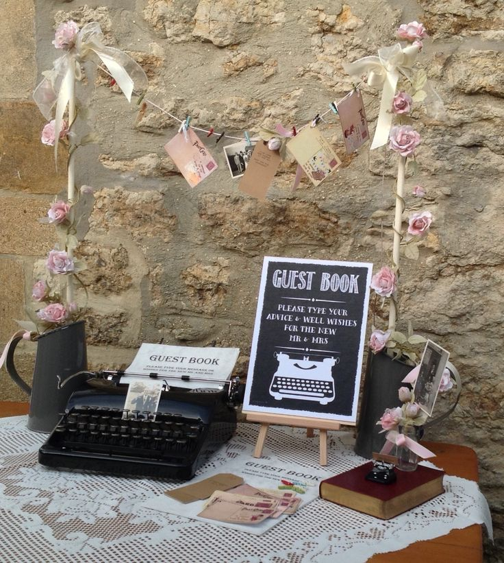 Typewriter hire wedding