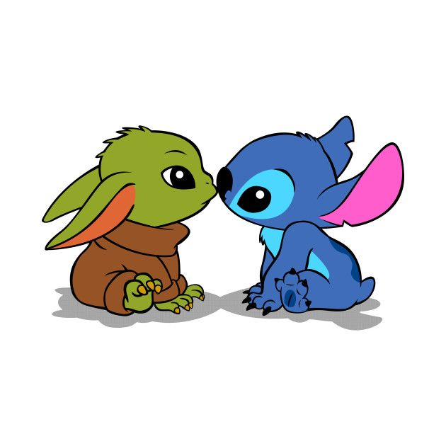Kawaii Baby Yoda Baby/Stitch TShirt (With images