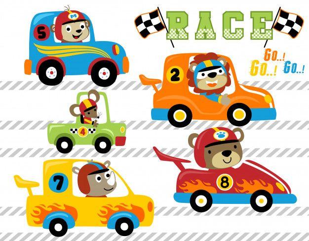 Conjunto De Vetores De Desenhos Animados Premium Vector Freepik Vector Carro Desenhos De Carros Carros Desenho Infantil Desenhos Animados