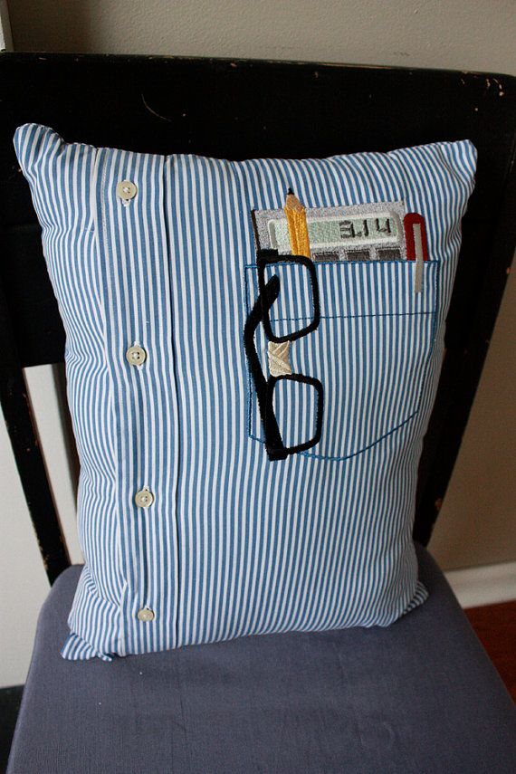 Shirt Pillow! love being able to use the pocket for significant items