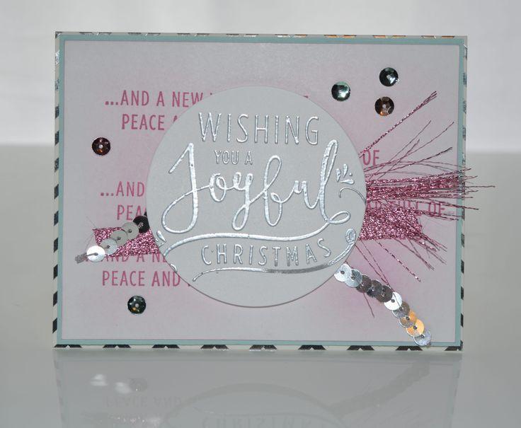 Wishing you a joyful Christmas in sweet sugarplum and metallic silver!
