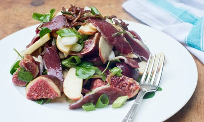 Angela Hartnett: duck and fig salad