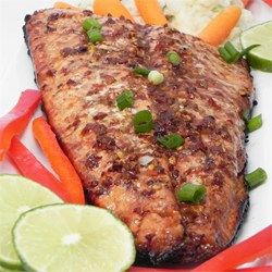 Grilled Steelhead Trout - Brushing fish with barbeque sauce while grilling makes this a unique preparation for trout.